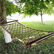 Дача и сад handmade. Livemaster - original item Hammocks: Seven knots. Manila Rope and Bamboo Traverses.. Handmade.