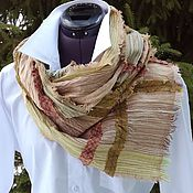 Аксессуары ручной работы. Ярмарка Мастеров - ручная работа №181 шарф бохо льняной. Handmade.