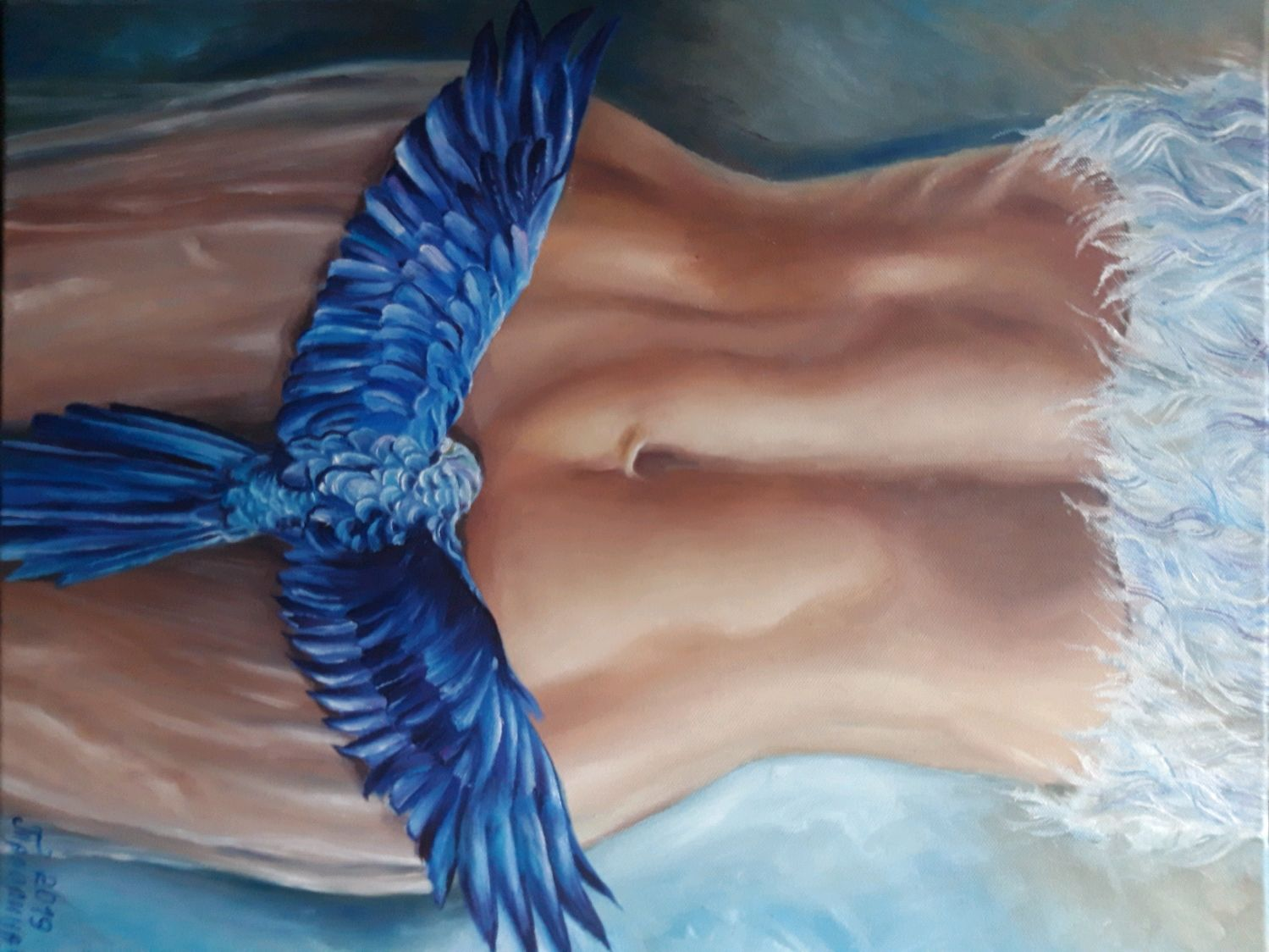 "Картина""Синяя птица"". Картина счастья.Картина с синей птицей, Картины, Анапа,  Фото №1"