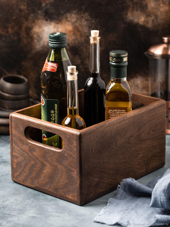 Ящик из дуба для хранения кухонных мелочей, Банки, Москва,  Фото №1