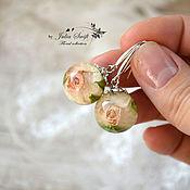 Украшения ручной работы. Ярмарка Мастеров - ручная работа Серьги с бутонами роз. Handmade.