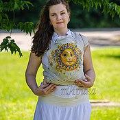 Одежда ручной работы. Ярмарка Мастеров - ручная работа Май-слинги с ручной росписью. Любимое солнце. Handmade.