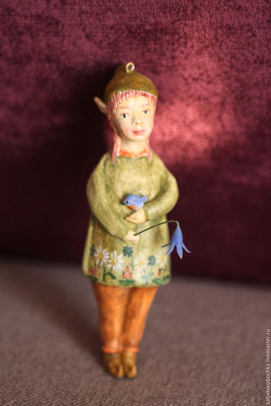 Коллекционные куклы ручной работы. Ярмарка Мастеров - ручная работа. Купить елочная игрушка Эльф. ПРОДАНА. Handmade. Елочная игрушка