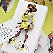 """Украшения ручной работы. Ярмарка Мастеров - ручная работа комплект:брошь """"Стефани"""",платок. Handmade."""