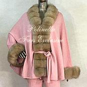 Одежда ручной работы. Ярмарка Мастеров - ручная работа Костюм из кашемира с куницей. Handmade.