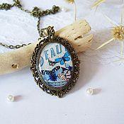 Украшения handmade. Livemaster - original item Vintage Pendant Blue butterfly Vintage No. №3. Handmade.