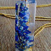 Украшения handmade. Livemaster - original item Long pendant from jewelry resin !Vetch!. Handmade.