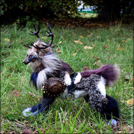 Игрушки животные, ручной работы. Ярмарка Мастеров - ручная работа. Купить Тотемный олень ВерЕн. Handmade. Серый, черный, тотем