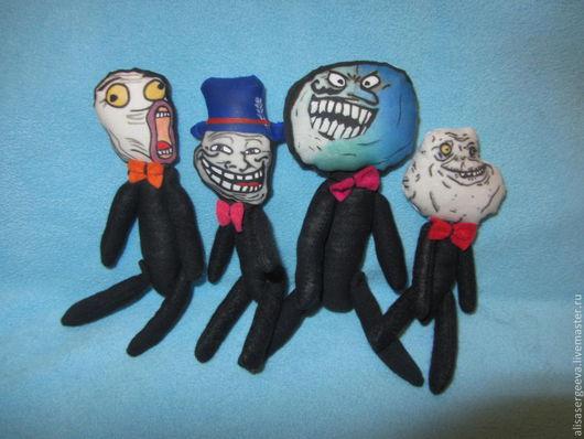 Сказочные персонажи ручной работы. Ярмарка Мастеров - ручная работа. Купить Тролли. Handmade. Черный, комиксы, салфетка