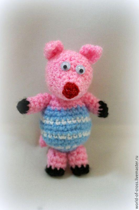 """Игрушки животные, ручной работы. Ярмарка Мастеров - ручная работа. Купить """"Хрюшка"""". Handmade. Комбинированный, свинья, свинка тедди, хрюшка"""