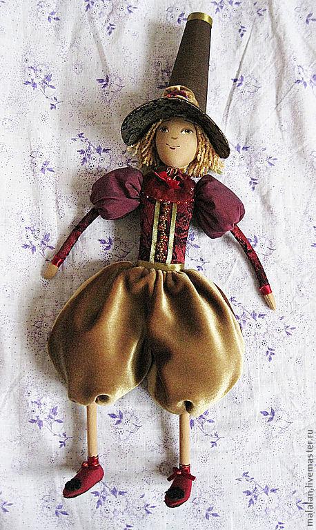 """Человечки ручной работы. Ярмарка Мастеров - ручная работа. Купить Сувенирная игрушка""""Паж"""". Handmade. Текстильная кукла, оригинальный подарок"""