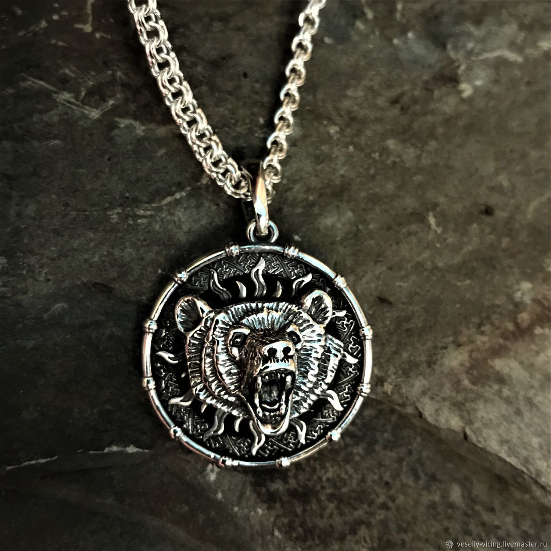 suspension: Medallion Bear with the symbol of Veles, Pendants, Sochi,  Фото №1