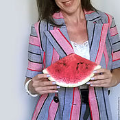 Одежда handmade. Livemaster - original item The striped suit of linen. Handmade.