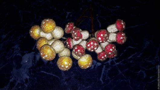 Материалы для флористики ручной работы. Ярмарка Мастеров - ручная работа. Купить Грибы в сахаре. Handmade. Разноцветный, гриб, в сахаре
