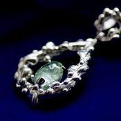 handmade. Livemaster - original item Pendant with aquamarine