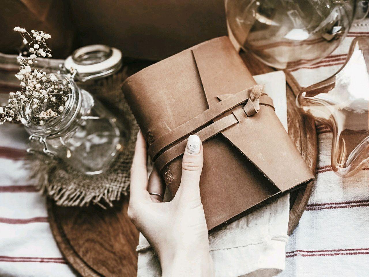 Блокнот кожаный Яков в бежевом цвете, Блокноты, Киев,  Фото №1