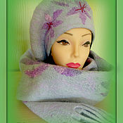 Headwear Sets handmade. Livemaster - original item Felted kit -beret and scarf