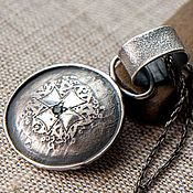 Украшения handmade. Livemaster - original item Silver pendant pendant, Large silver pendant. Handmade.