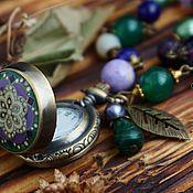 Украшения handmade. Livemaster - original item Beautiful necklace with a watch in Boho style