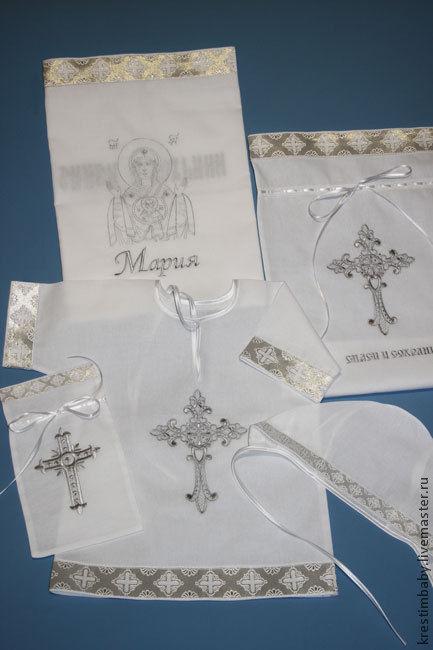 """Комплект для крещения """"Знамение""""(серебро), Комплект для крещения, Москва,  Фото №1"""