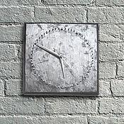 Для дома и интерьера ручной работы. Ярмарка Мастеров - ручная работа Часы Гвозди. Необычные настенные часы с гвоздями. Минимализм. Лофт. Handmade.