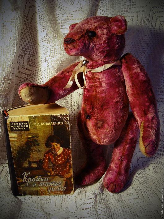 Мишки Тедди ручной работы. Ярмарка Мастеров - ручная работа. Купить Мишка Тедди. Агастус. Handmade. Бордовый, медведь тедди