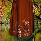 """Одежда ручной работы. Ярмарка Мастеров - ручная работа Юбка на осень из джерси """"Осенний сад"""". Handmade."""