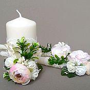 Свадебные свечи ручной работы. Ярмарка Мастеров - ручная работа Свечи свадебные, семейный очаг. Handmade.