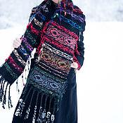 Аксессуары handmade. Livemaster - original item Bright warm scarf, Women`s scarf, large stole-SC0867CKW. Handmade.