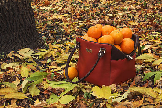 """Женские сумки ручной работы. Ярмарка Мастеров - ручная работа. Купить Сумка """"Рыжий куб"""". Handmade. Рыжий, оранжевый, осень"""