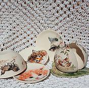 Для дома и интерьера ручной работы. Ярмарка Мастеров - ручная работа Набор для варенья Котики. Handmade.