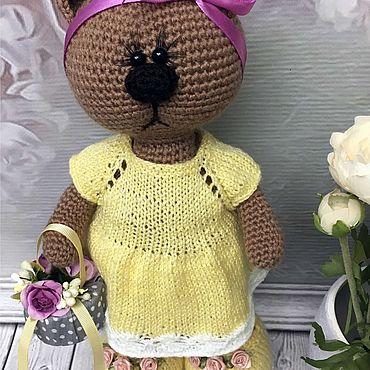Куклы и игрушки ручной работы. Ярмарка Мастеров - ручная работа Вязаный мишка тильда. Handmade.
