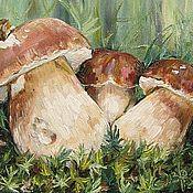 Картины и панно ручной работы. Ярмарка Мастеров - ручная работа Семья белых грибов. Handmade.
