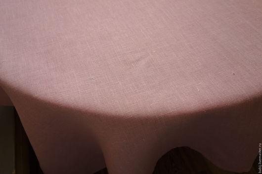 Текстиль, ковры ручной работы. Ярмарка Мастеров - ручная работа. Купить Скатерть льняная розово-серая. Handmade. Скатерть