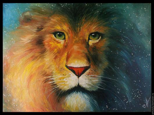 Картина маслом `Царь зверей` (масло, холст 50х70) Автор: Ермакова Наталья (Nataly)