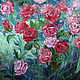 Картины цветов ручной работы. Ярмарка Мастеров - ручная работа. Купить картина интерьерная Розовый куст. Handmade. Картина, цветы