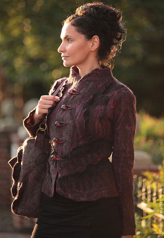Пиджаки, жакеты ручной работы. Ярмарка Мастеров - ручная работа. Купить black cherry jacket-. Handmade. Black cherry, кружево