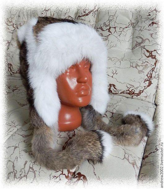 Шапки ручной работы. Ярмарка Мастеров - ручная работа. Купить Шапка с ушками женская. Handmade. Комбинированный, меховая шапка, шапка