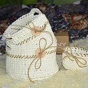 Для дома и интерьера ручной работы. Ярмарка Мастеров - ручная работа Набор вязаных корзиночек. Handmade.