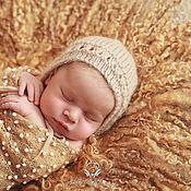 """Работы для детей, ручной работы. Ярмарка Мастеров - ручная работа Валяный коврик """"Пшеничный"""", реквизит для фотосессии. Handmade."""