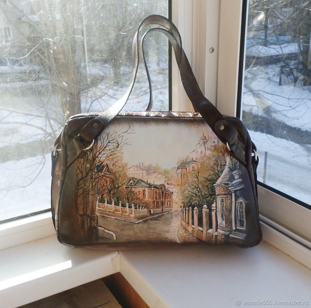 Leather bag with painted to order for Catherine, Classic Bag, Noginsk,  Фото №1