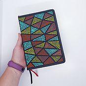 Канцелярские товары handmade. Livemaster - original item Notepad for records with dot painting