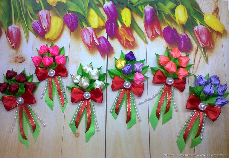 Букетик тюльпанов на 8-е Марта, Магниты, Гаврилов Ям,  Фото №1