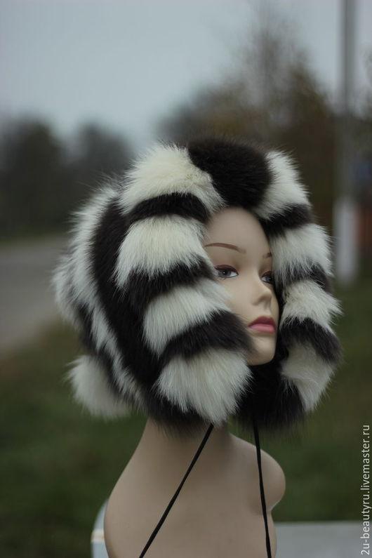 Меховая шапка для девочки,капор из меха,детская зимняя шапочка,тёплая детская шапка,капор меховой для девочки,подарок на Новый год,подарок на Рождество