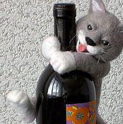 Сувениры и подарки ручной работы. Ярмарка Мастеров - ручная работа Кошка-на-бутылку. Handmade.