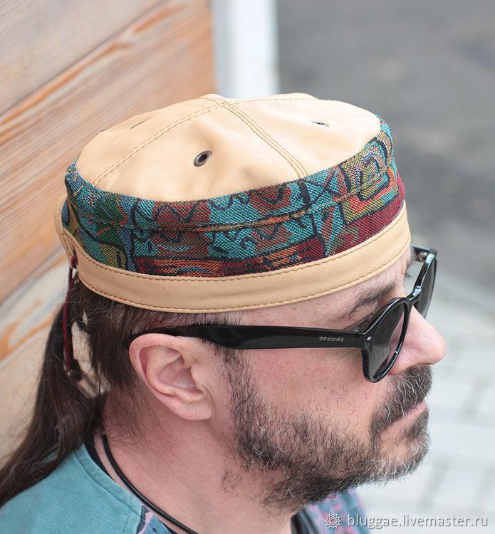 2d9f5c75058d2 Bluggae Hats handmade. African ethnic kufi hat in denim TLB-HAT-02. Bluggae