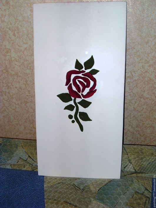 Элементы интерьера ручной работы. Ярмарка Мастеров - ручная работа. Купить Постер - Роза. Handmade. Белый, картина в подарок