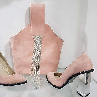 Обувь ручной работы. Ярмарка Мастеров - ручная работа Комплект - Туфли+сумка .. Handmade.