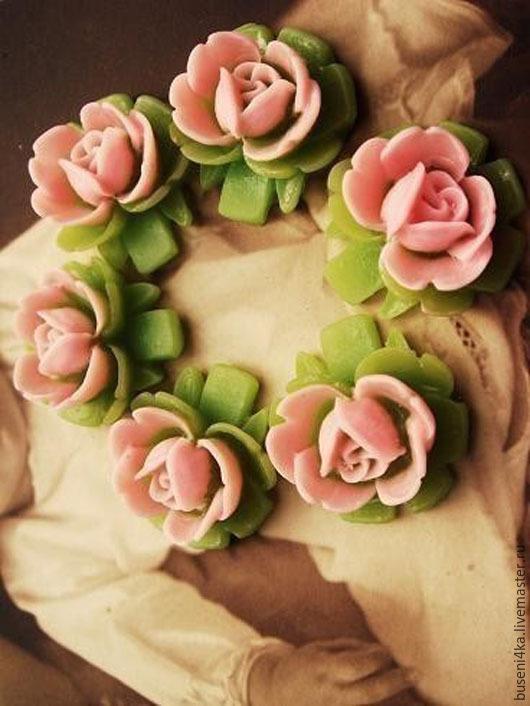 Для украшений ручной работы. Ярмарка Мастеров - ручная работа. Купить Кабошон Роза на ножке (1шт). Handmade. Кабошон