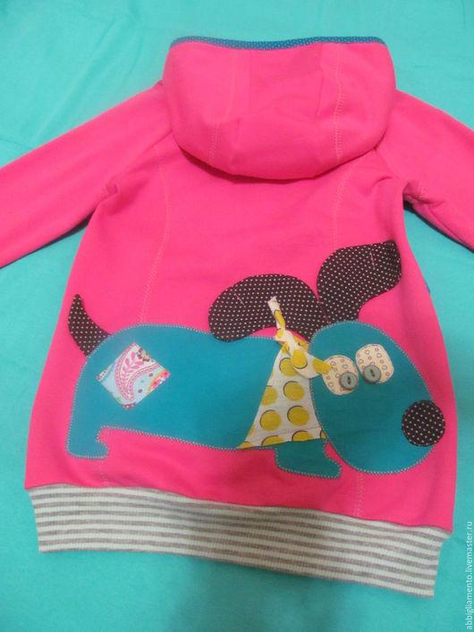 """Одежда для девочек, ручной работы. Ярмарка Мастеров - ручная работа. Купить толстовка """". Handmade. Фуксия, авторская работа, аппликация"""